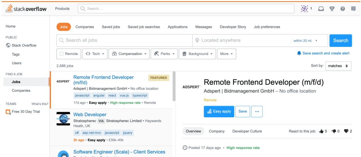 Stack Overflow's Job Board