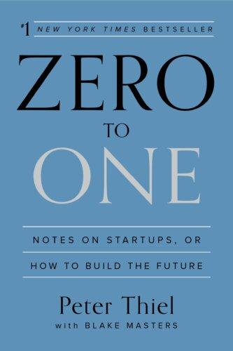 Zero to one - best books for entrepreneurs