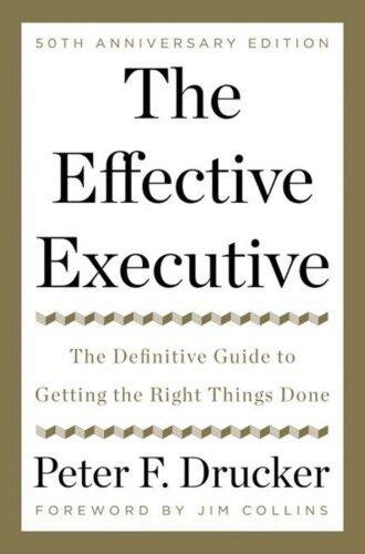 The Effective Executive – books for entrepreneurs