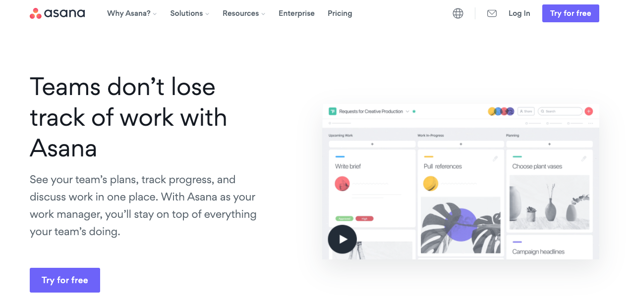 Tools for Entrepreneurs – Asana