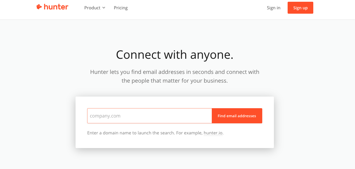 Tools for Entrepreneurs – Hunter.io