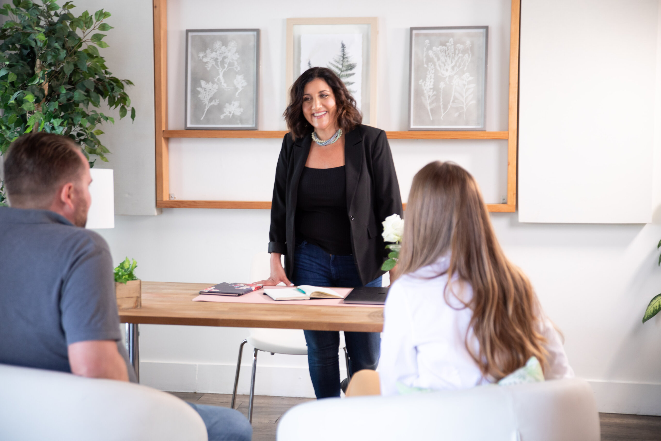 Business Coaching Session with Diane Prince and two entrepreneurs